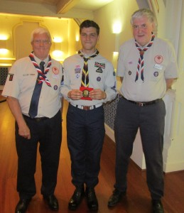 James Toogood with scout leaders 22-09-16